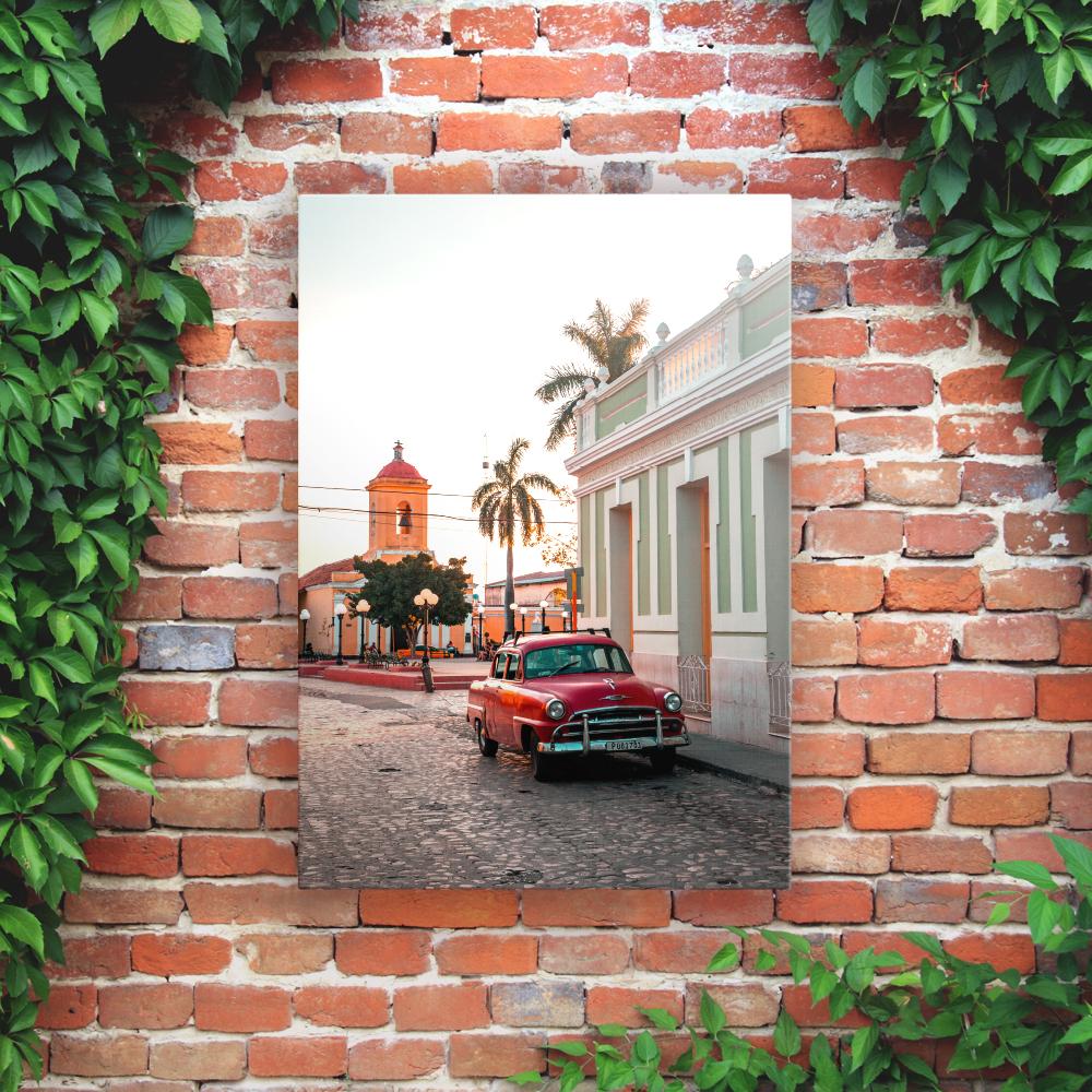 Printed Outdoor Garden Wall Art Panels - Car
