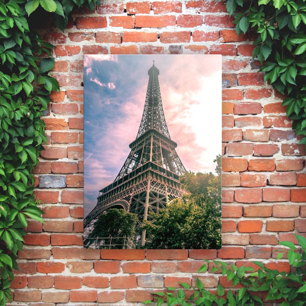 Printed Outdoor Garden Wall Art Panels - Eiffel Tower