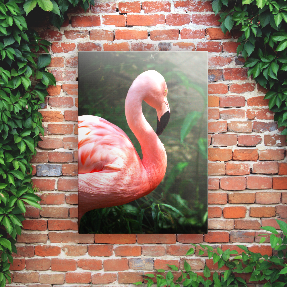 Printed Outdoor Garden Wall Art Panels - Flamingo