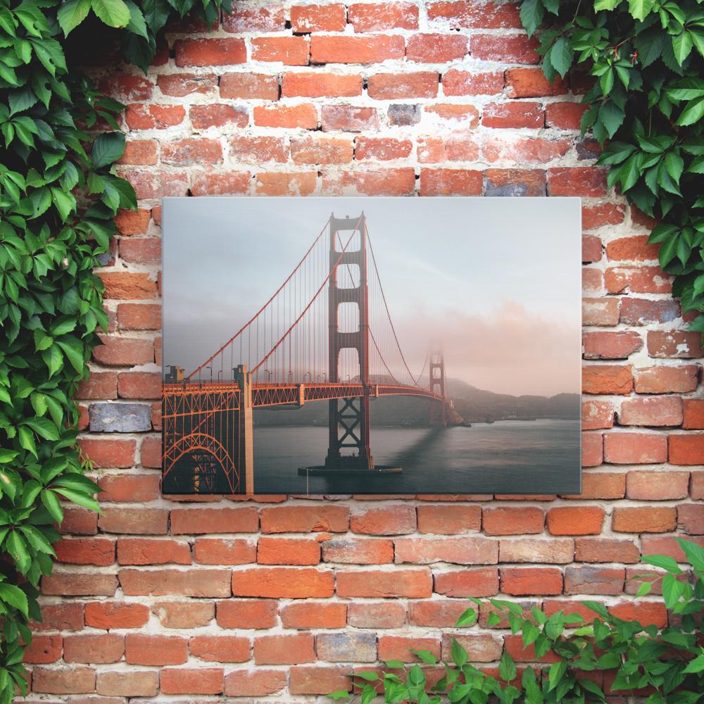 Printed Outdoor Garden Wall Art Panels - Golden Gate Bridge