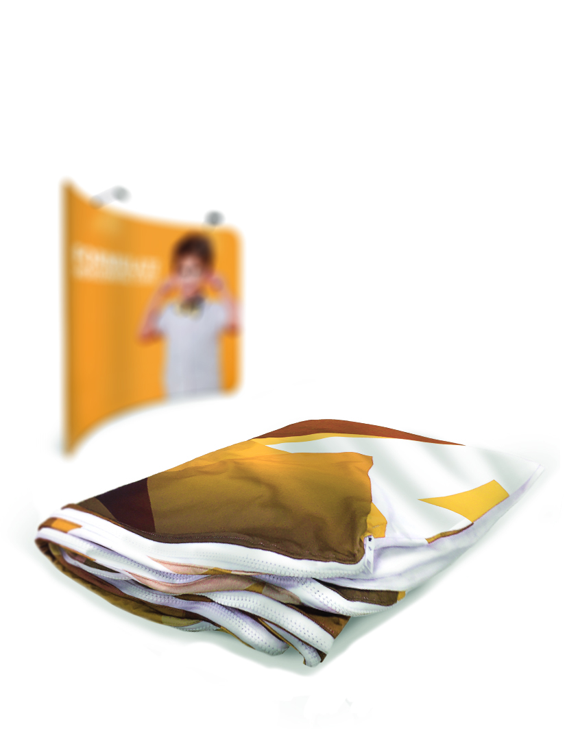 Formulate Curved Fabric Display Stand 2.4m Replacement Graphics