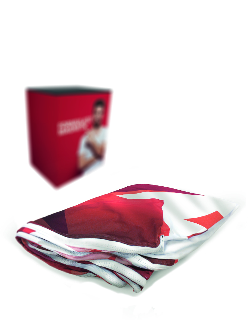 Formulate Magnetic Tension Fabric Display Counter Replacement Graphics