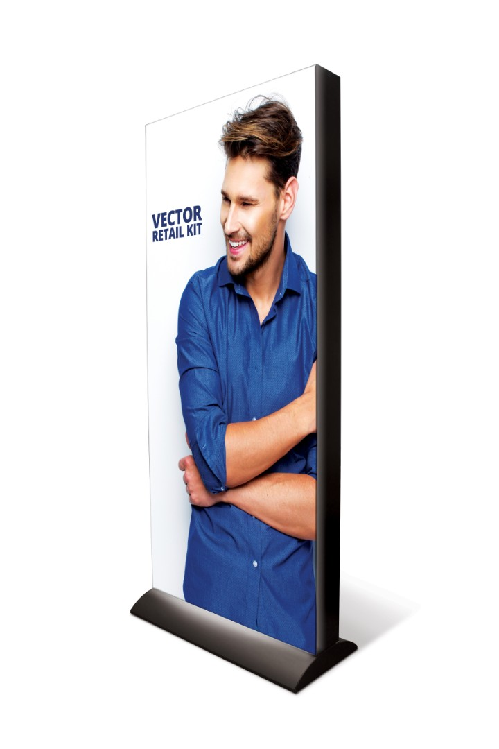 Retail Lightbox Freestanding LED With Textile Graphics