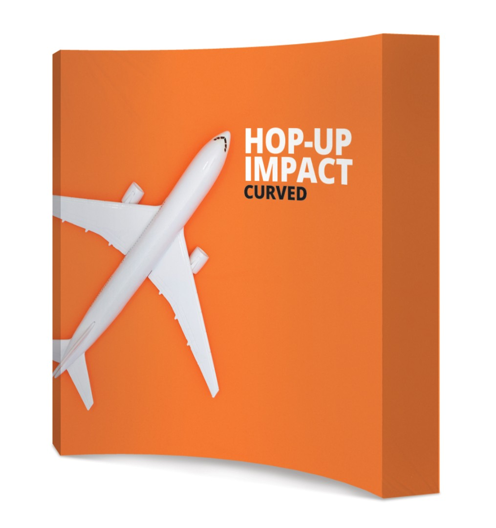 Hop Up Fabric Display Stand Curved