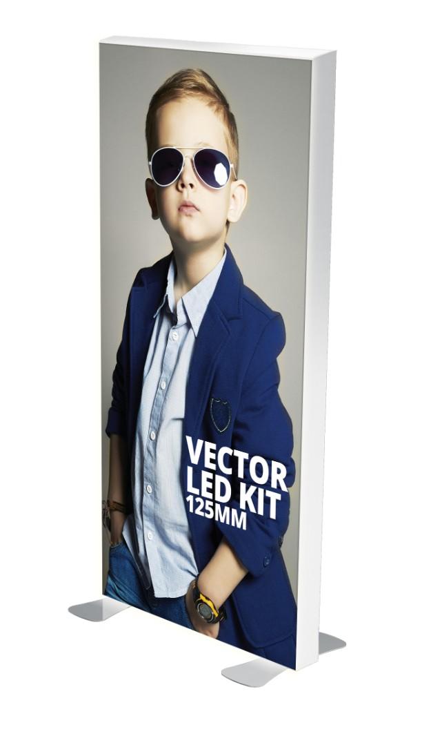 Freestanding LED Exhibition Lightbox - 125mm