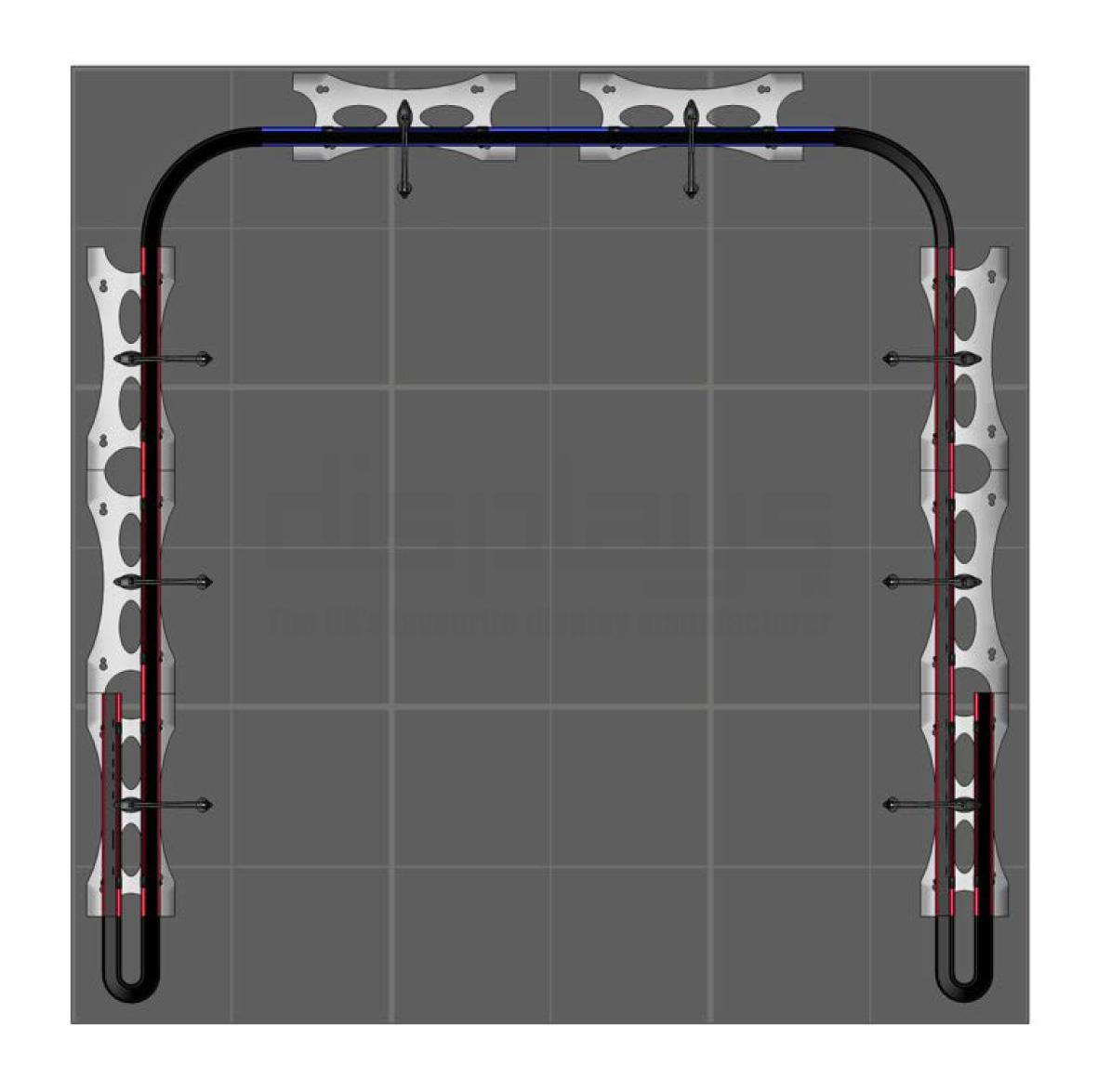 Twist 3m x 3m Exhibition Stand - U Shape - Kit 58