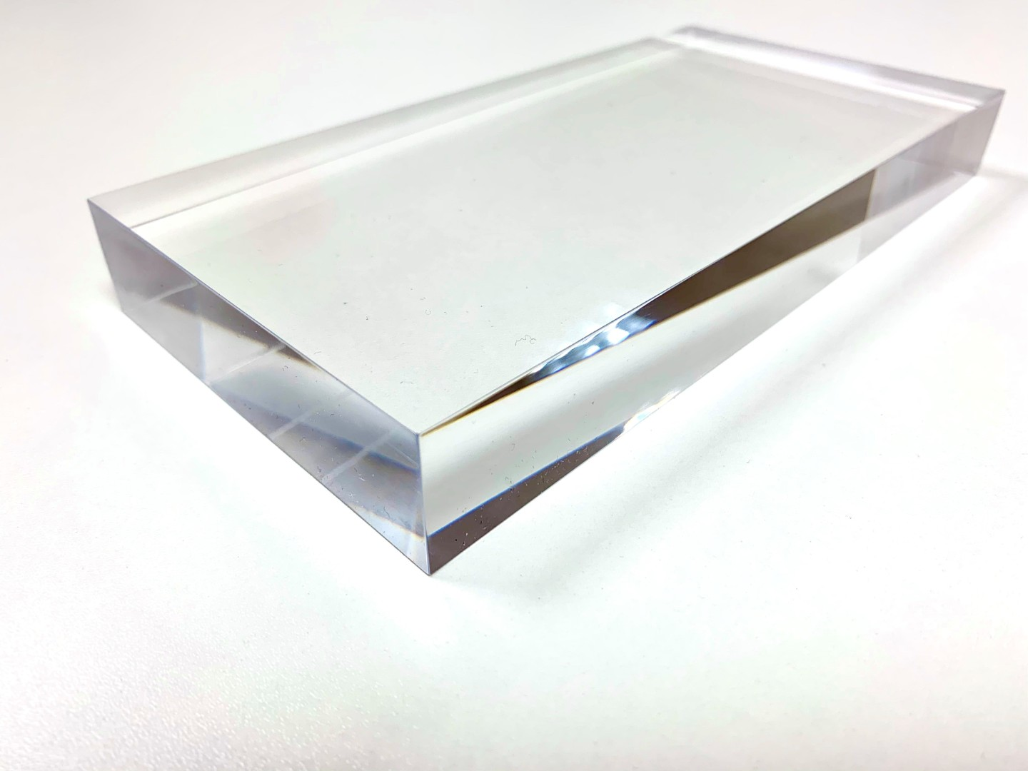 Clear Perspex Acrylic 25mm Retail Block/Riser