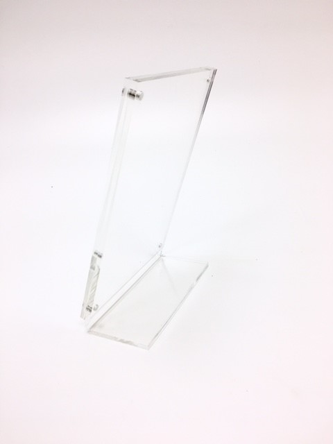 Counter Standing Magnetic Acrylic Sign Holder - Angled