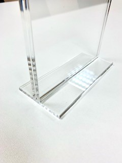 Counter Standing Acrylic Sign Holder - Double Sided