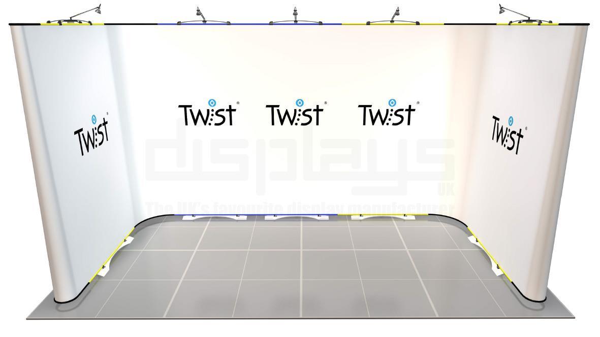 Twist 4m x 2m Exhibition Stand - U Shape - Kit 59