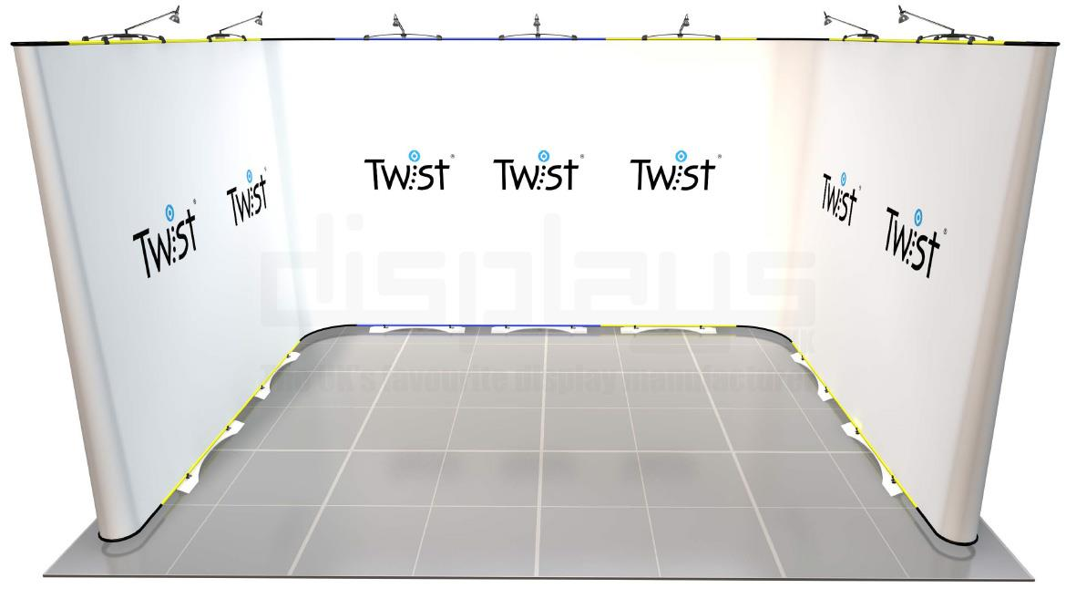 Twist 4m x 3m Exhibition Stand - U Shape - Kit 60