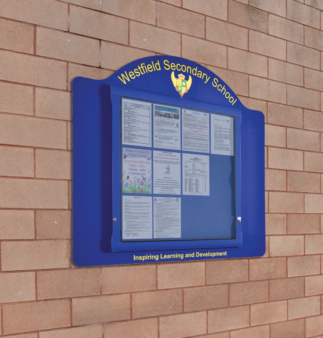 WeatherShield Contour Wall Mounted Outdoor Personalised Sign/Noticeboard