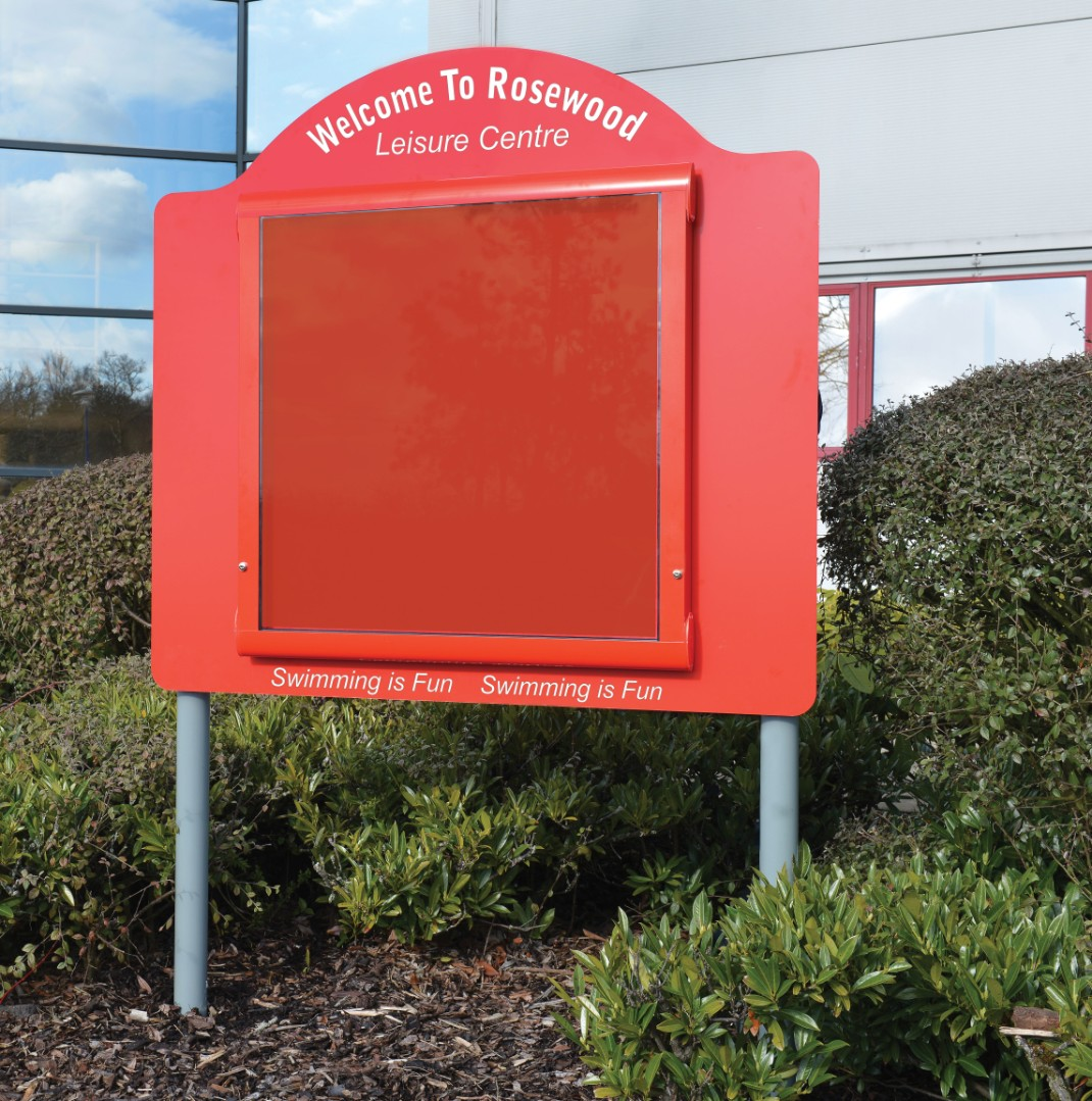 WeatherShield Contour Freestanding Outdoor Personalised Noticeboard/Sign