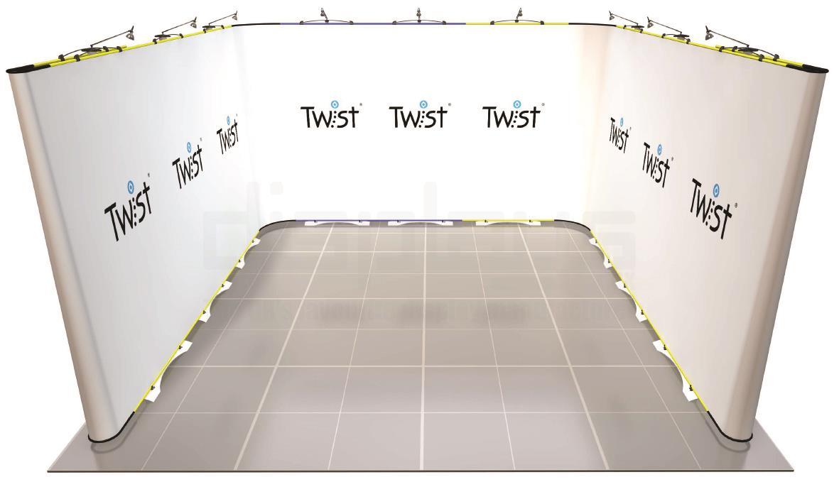 Twist 4m x 4m Exhibition Stand - U Shape - Kit 61