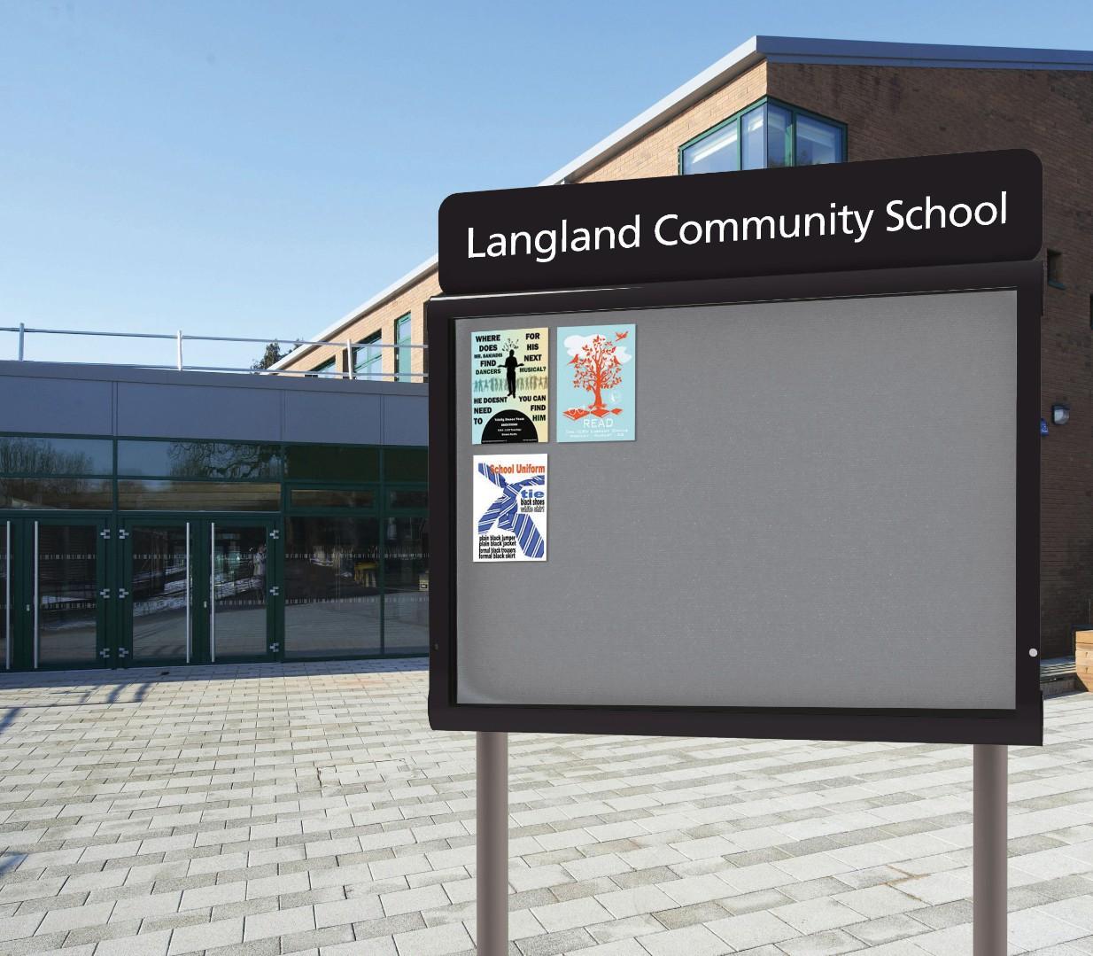 WeatherShield Headline Freestanding Personalised Outdoor Sign & Noticeboard