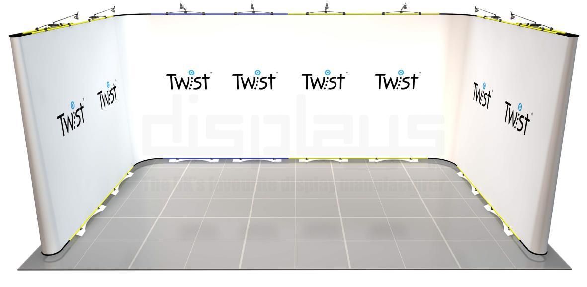 Twist 5 x 3 Exhibition Stand - U Shape - Kit 63