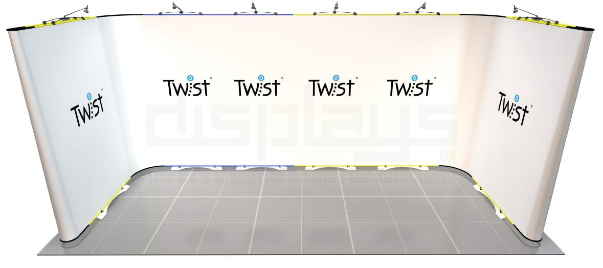 Twist 5m x 2m Exhibition Stand - U Shape - Kit 62