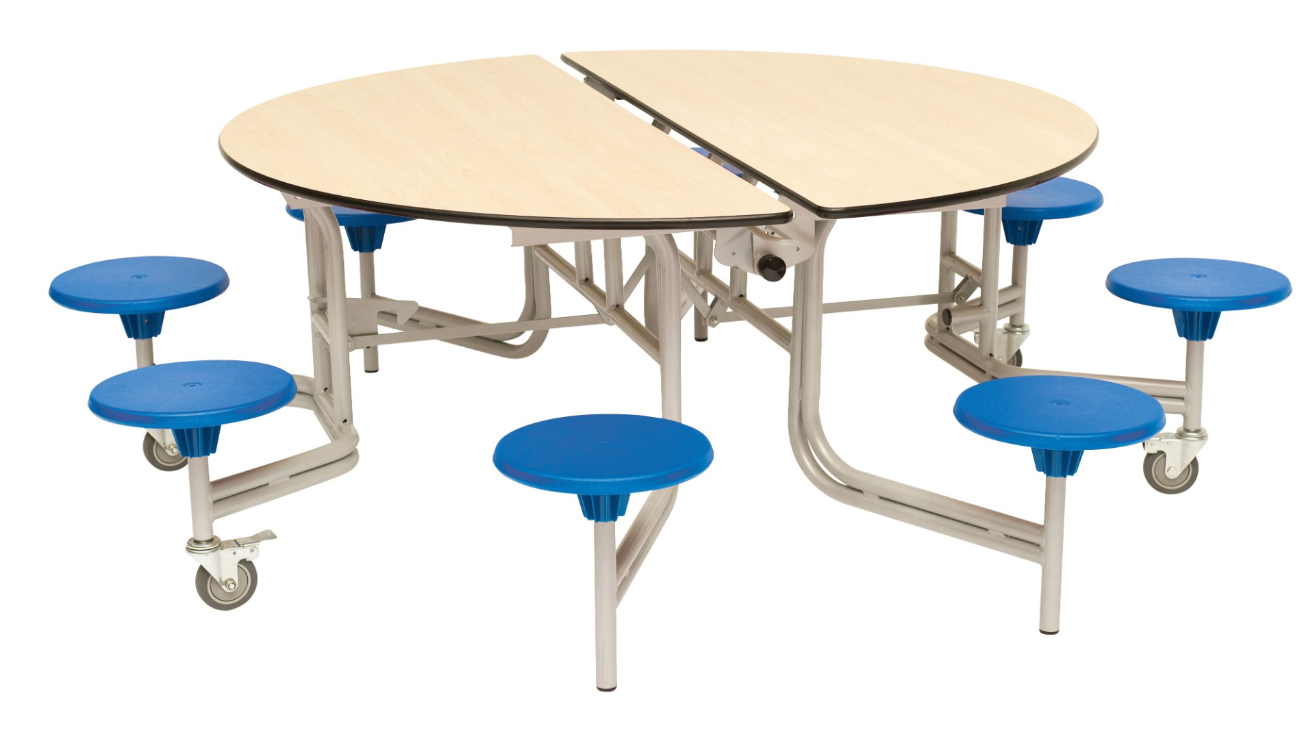 8 Seat Round Mobile Folding Dining Table