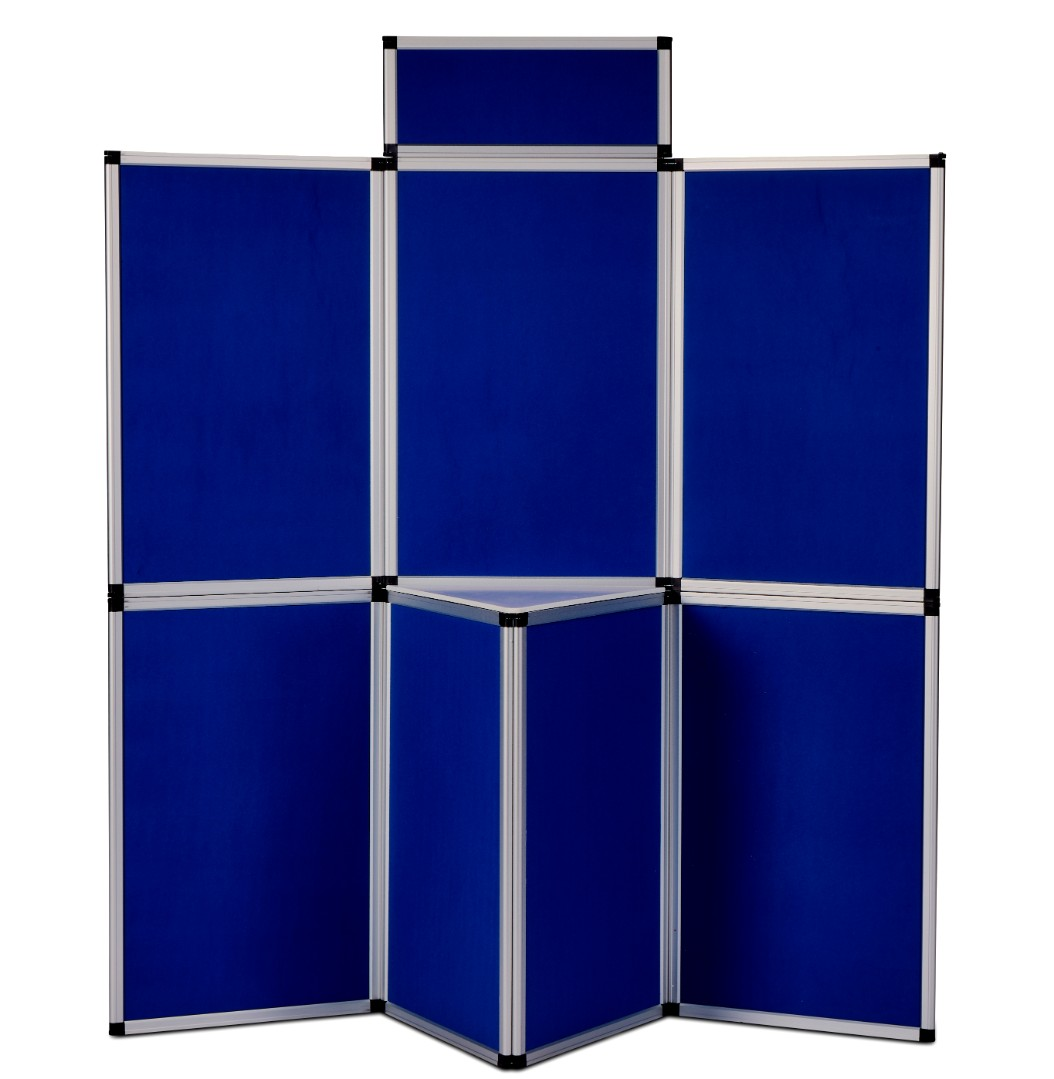 Heavy Duty Fold-Up Display Screen - 7 Panel System with Shelf