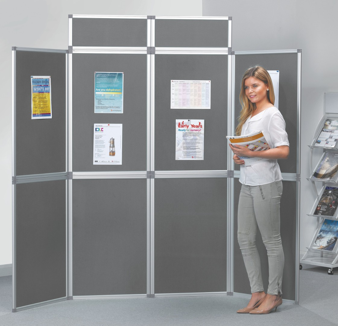 Heavy Duty Fold-Up Display Screen - 8 Panel System