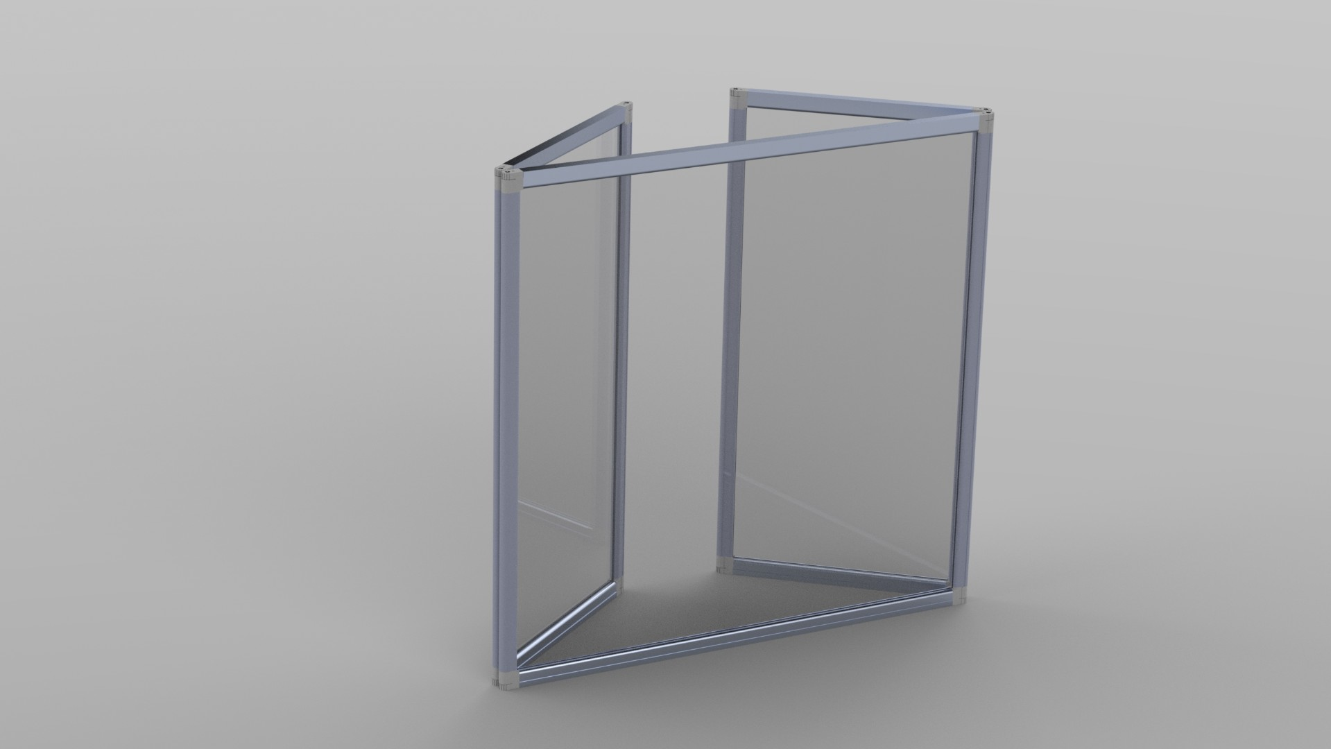 Large Folding Clear Acrylic Sneeze Guard Screen