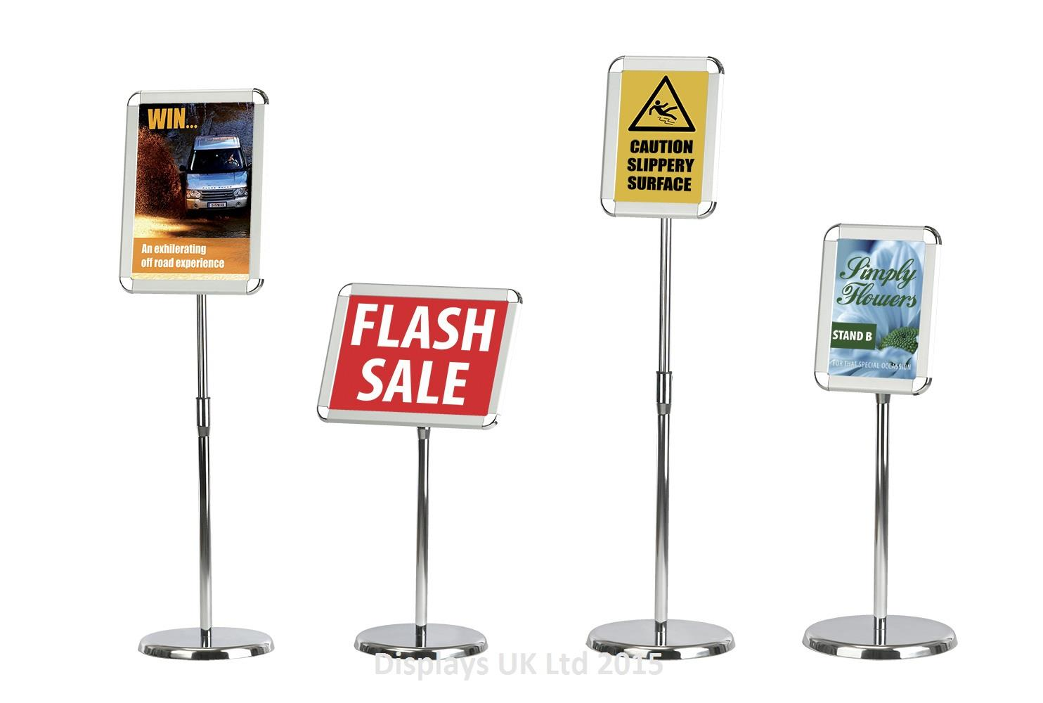 Telescopic Floor Standing Poster Holder
