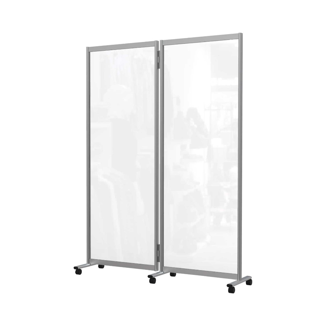 Floor Standing Mobile Acrylic Partition Screen Divider