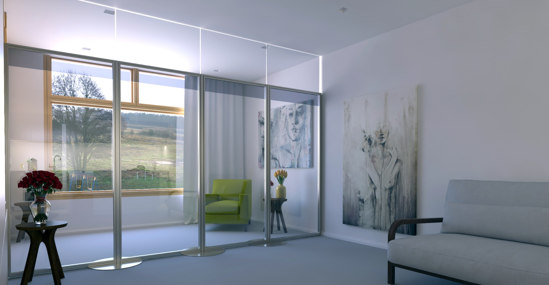 Freestanding Floor To Ceiling Acrylic Safety Screen For Care Homes