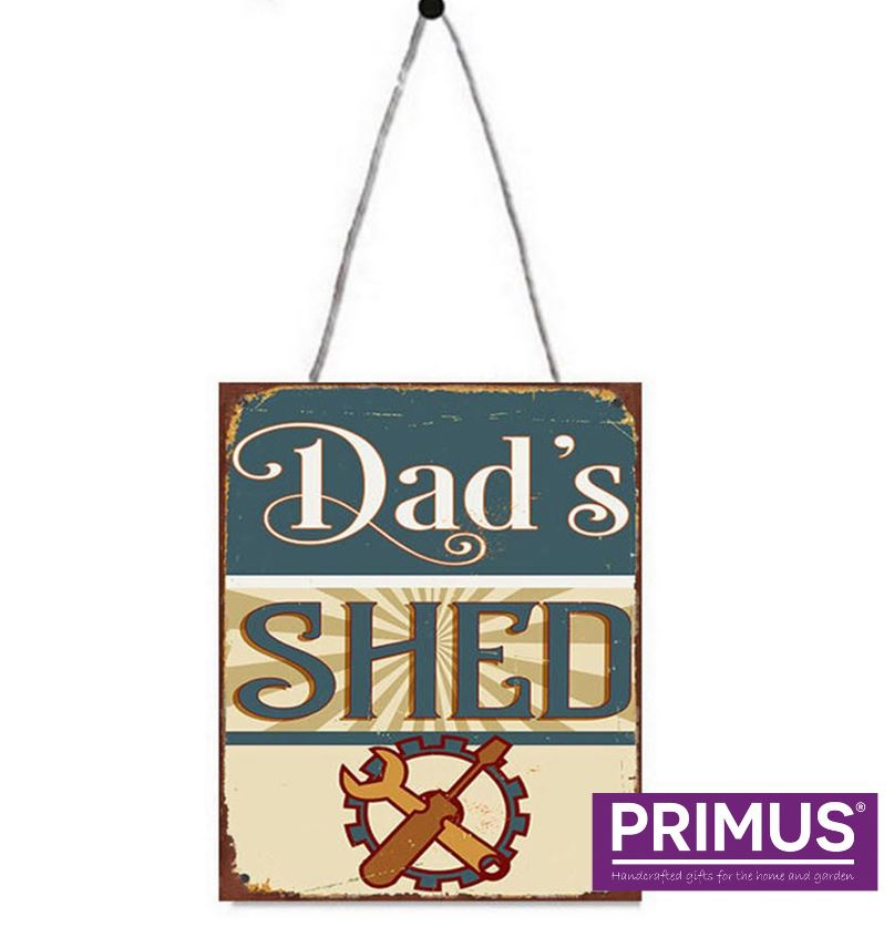 Dad's Shed Metal Sign Plaque
