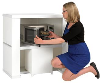Demo Counter With Microwave Shelf