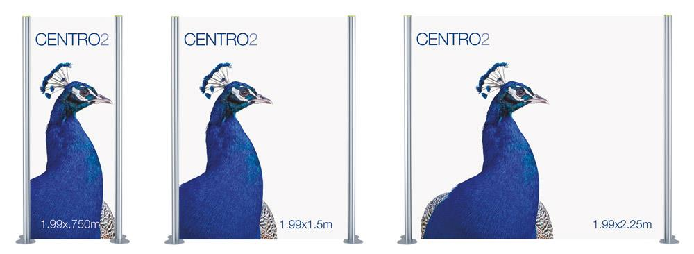 Centro 2 Straight Modular Display Stand