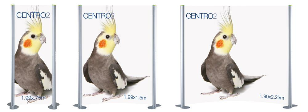 Centro 2 Curved Modular Display Stand