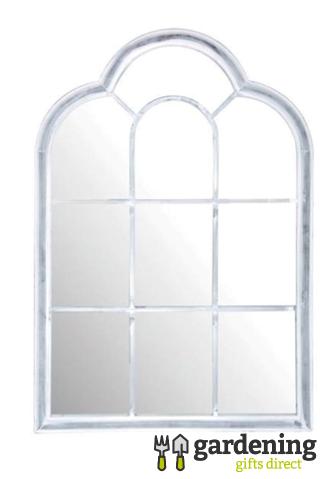 Roman Garden Mirror - Aged Metal Frame