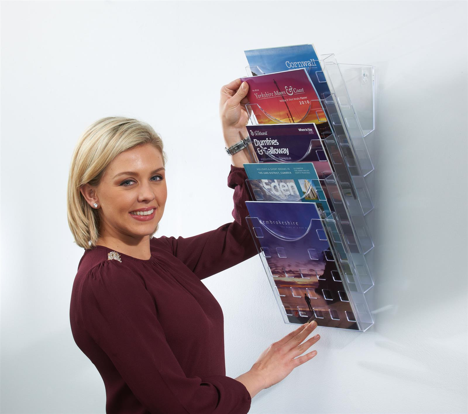 All Clear Premium Wall Mounted Literature Display