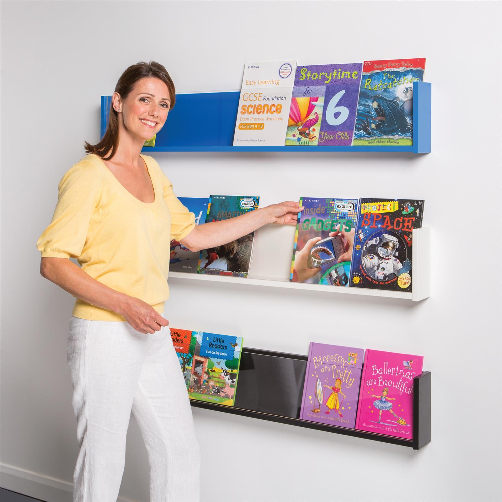 Shelf Style Wall Mounted Brochure Dispenser