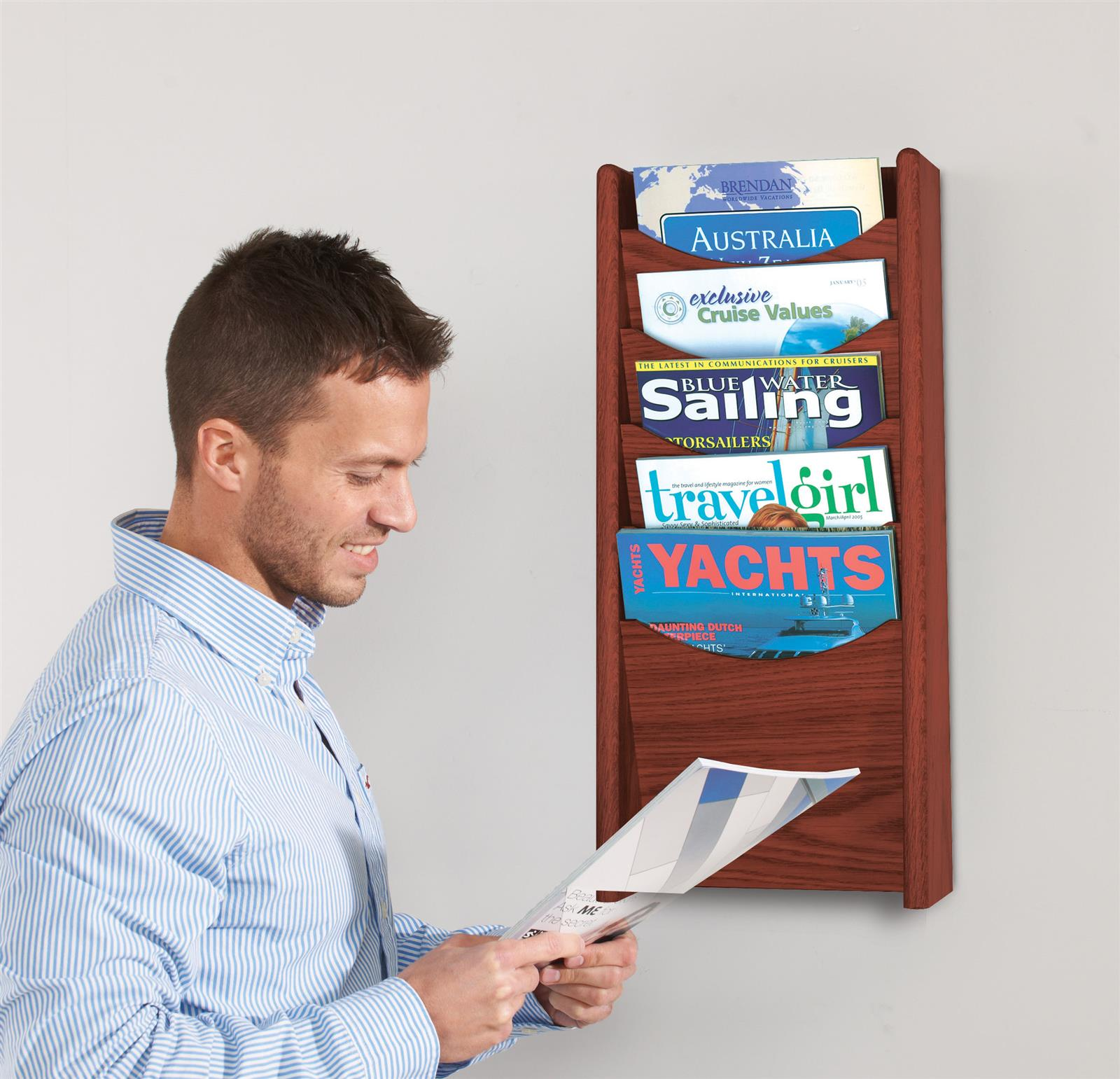 Wooden Wall Literature Dispensers