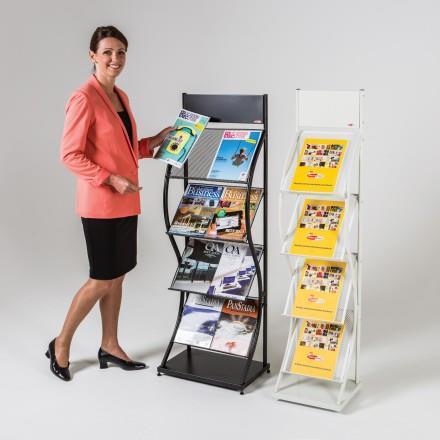 Wave Wider Freestanding Literature Dispensers
