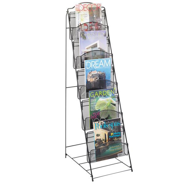 Extra Wide Mesh Freestanding Brochure Racks