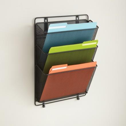 Mesh Document Rack - Wall Mounted