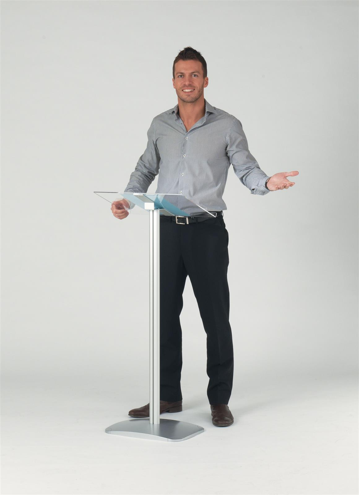 Acrylic Top Lectern - Floorstanding