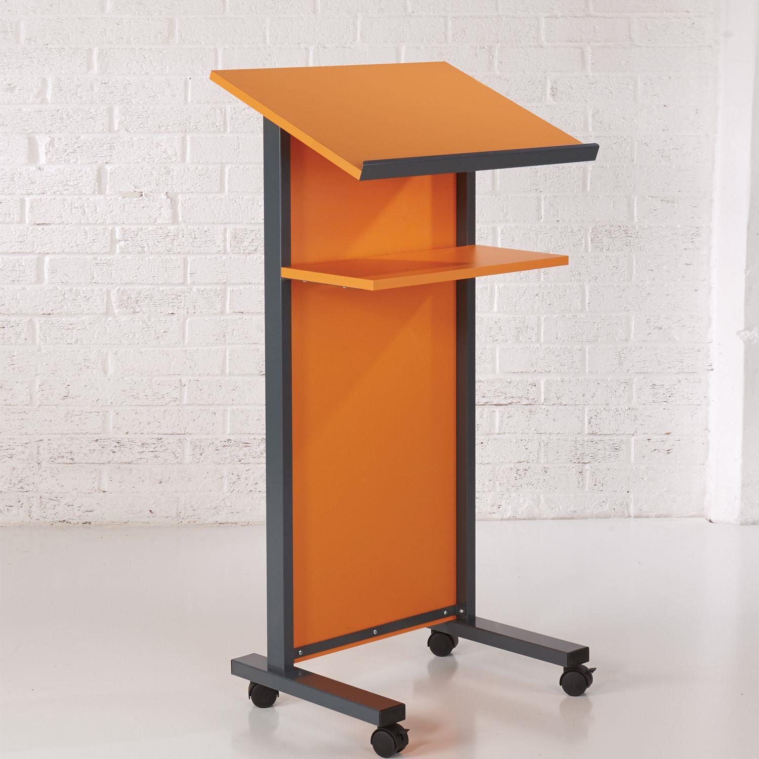 Coloured Panel Front Lecterns - On Wheels