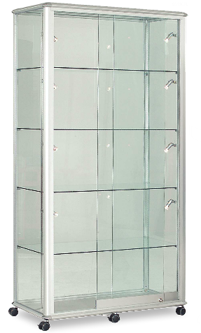 Shield Glazed Tower Display Case