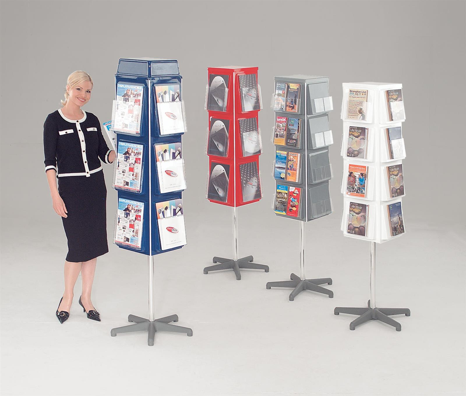 Traditional 4 Sided Revolving Brochure Dispensers