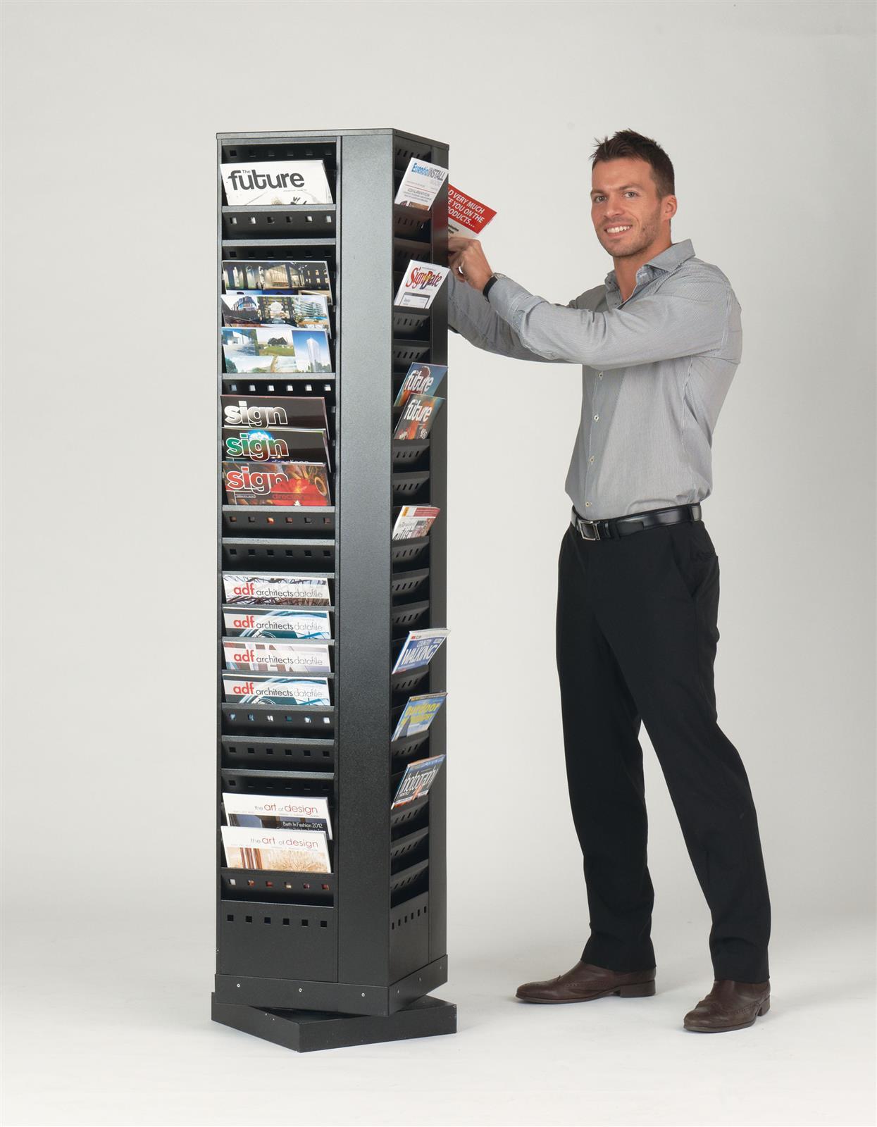 Steel Revolving Literature Dispensers