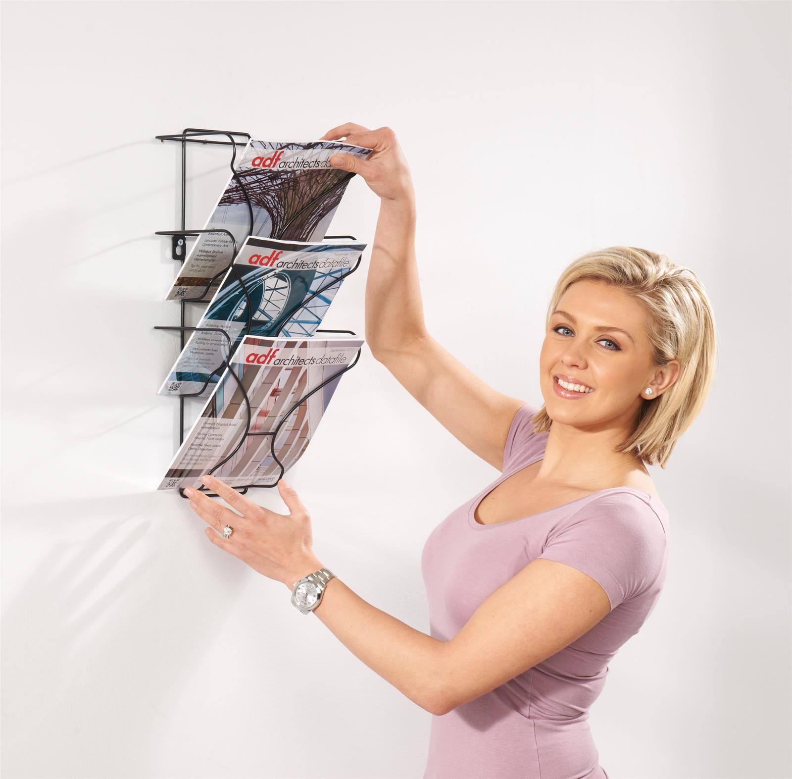 Wire Wall Mounted A4 Literature Dispenser