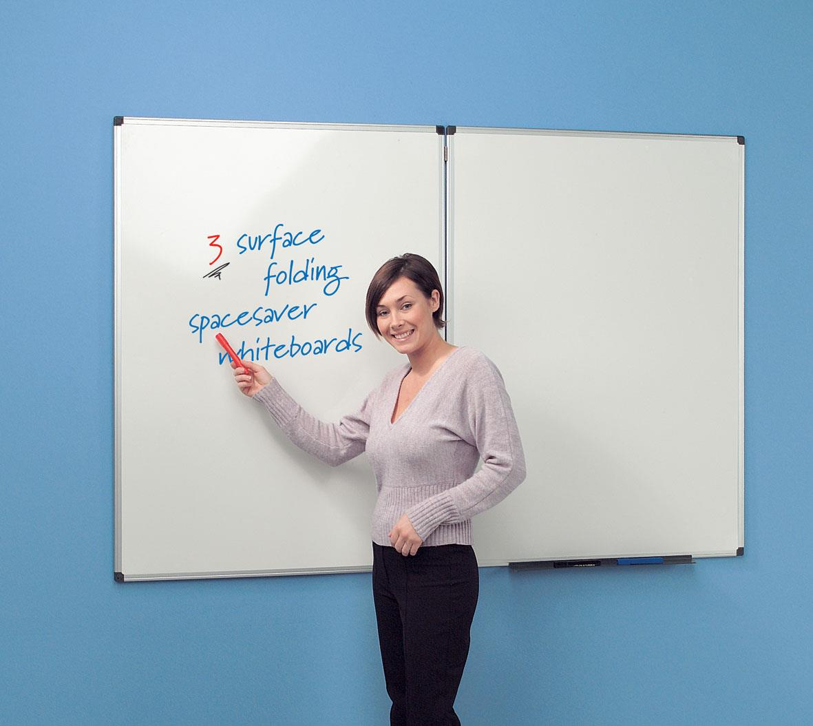 WriteOn Spacesaver Whiteboards - Aluminium Framed - Wall Mounted