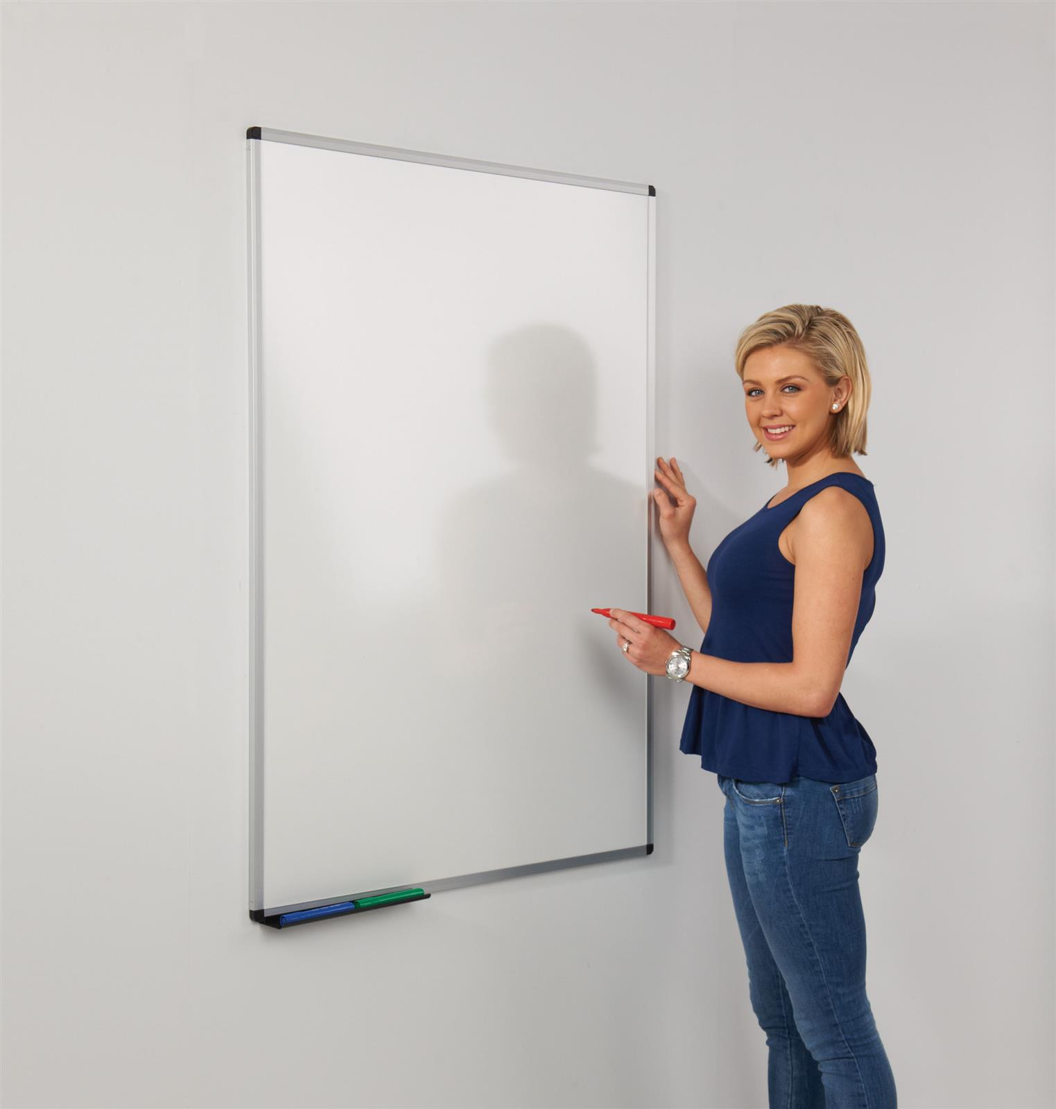 WriteOn Dual Faced Whiteboards - Aluminium Framed - Wall Mounted