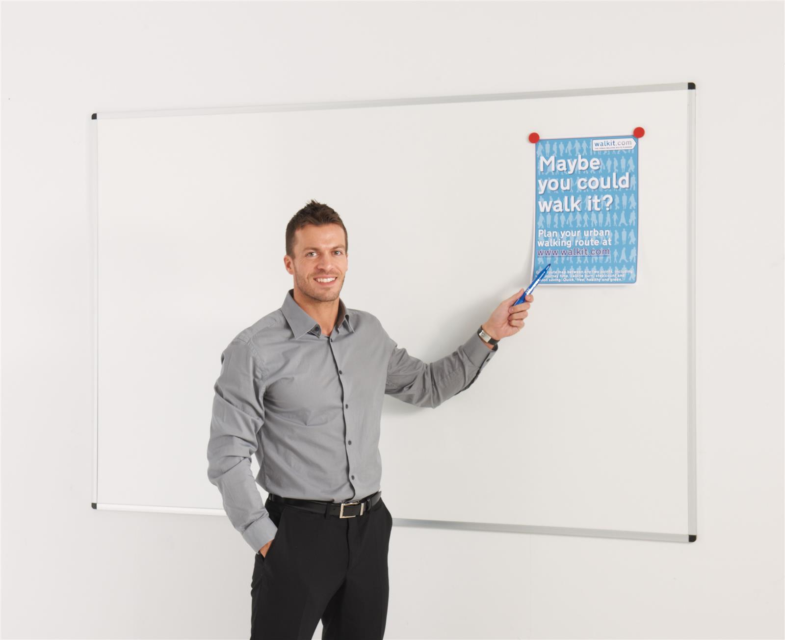 WriteOn Vitreous Enamel Steel Magnetic Whiteboard