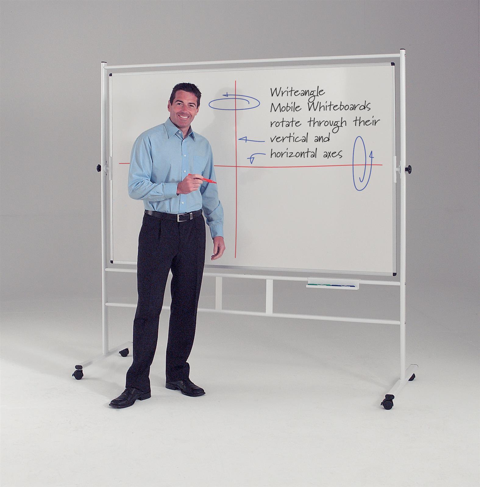 WriteAngle Mobile Revolving Whiteboards