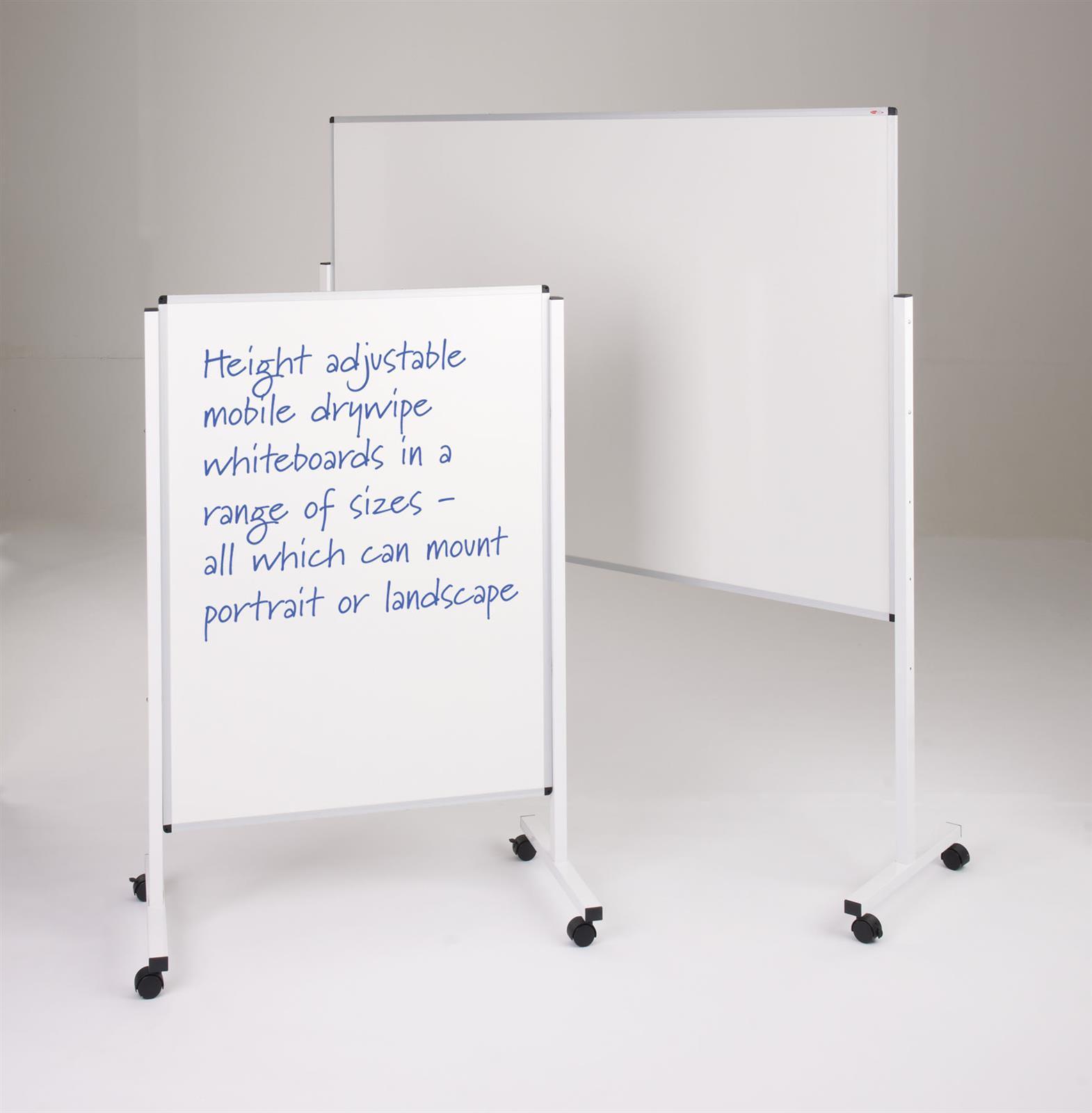 WriteOn Mobile Height Adjustable Whiteboards